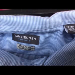 Van Heusen Dress Shirt , Regular Fit, 18.5, 34/35